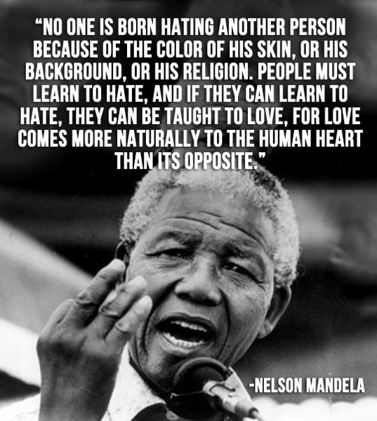 Nelson Mandela about love